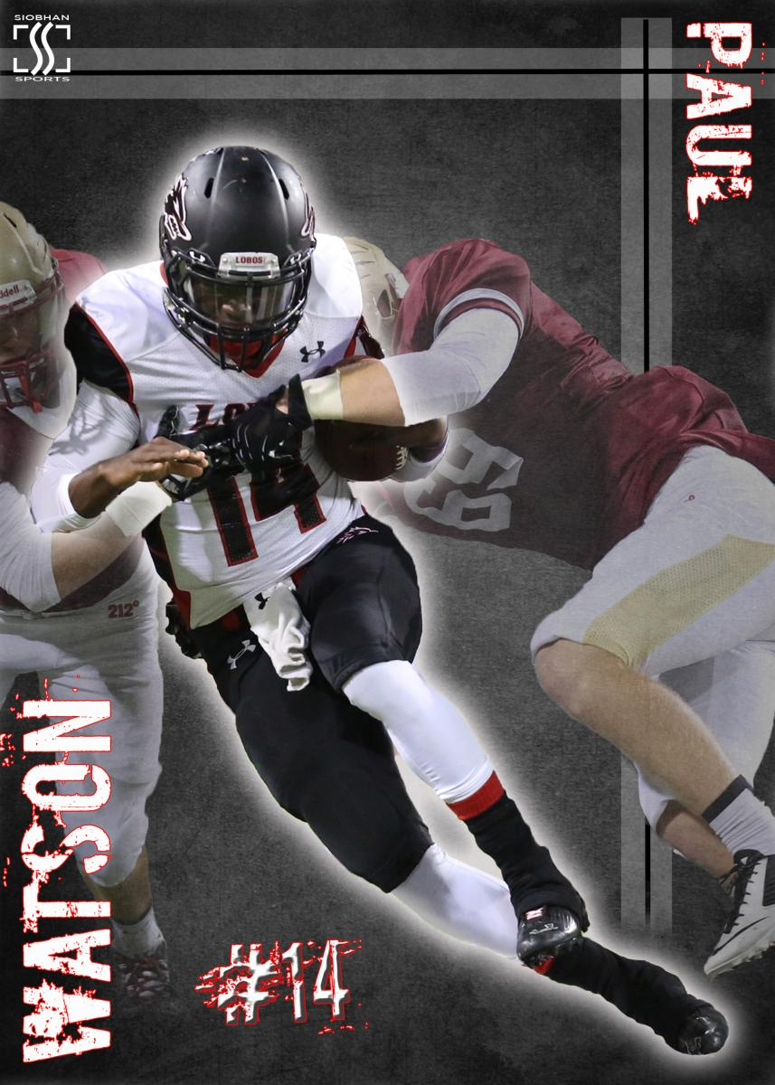 Sports Action Poster -Langham Creek Football