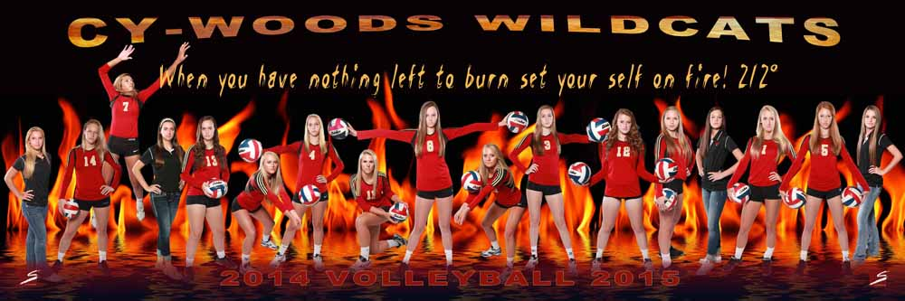 Sports Team Action Composite Poster / Banner - CyWoods Volleyball