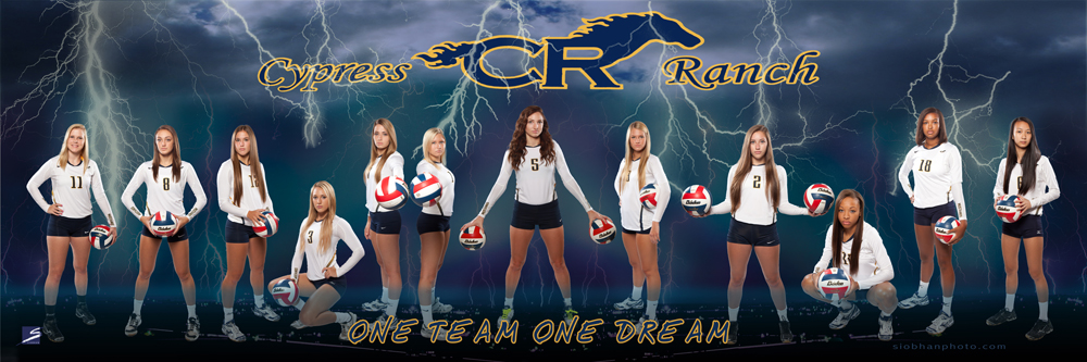 Sports Team Action Composite Poster / Banner - CyRanch Volleyball