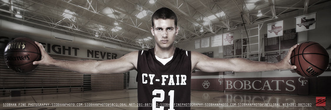 HDR Sports Portrait Panoramic or Banner- Cy-Fair Basketball