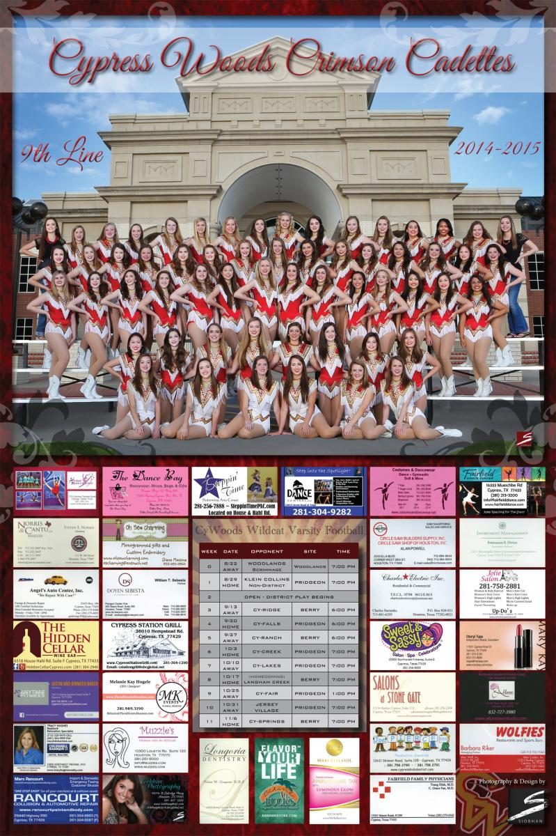 Sports Team Fundraiser Poster - CyWoods Crimson Cadettes