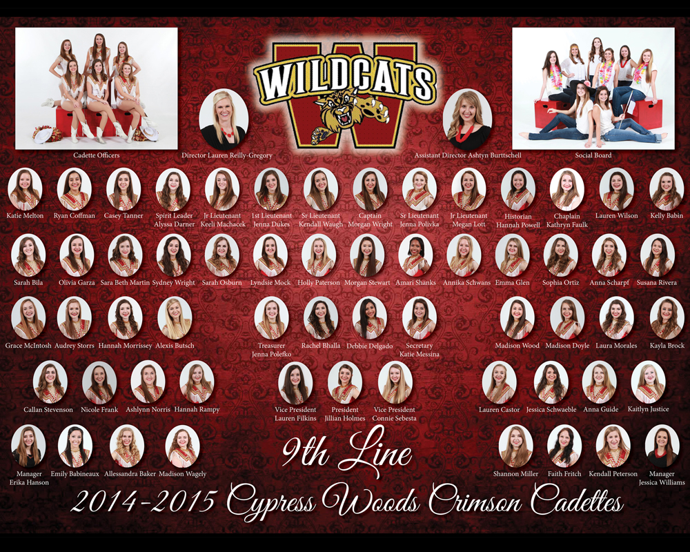 Sports Team Composite Poster - CyWoods Crimson Cadettes